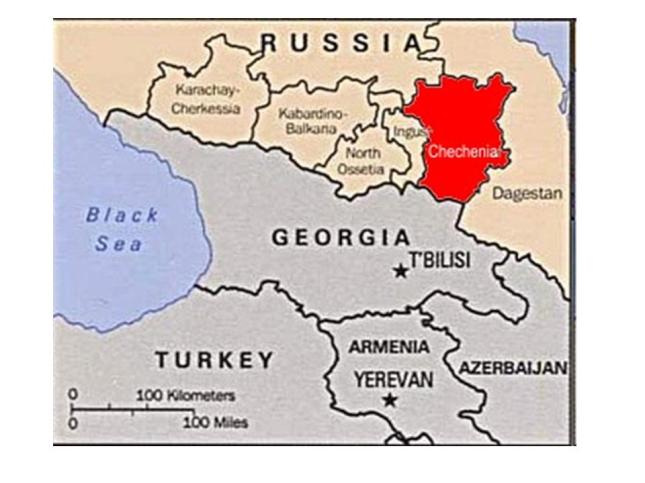 Resultado de imagen de mapa de Chechenia imagenes